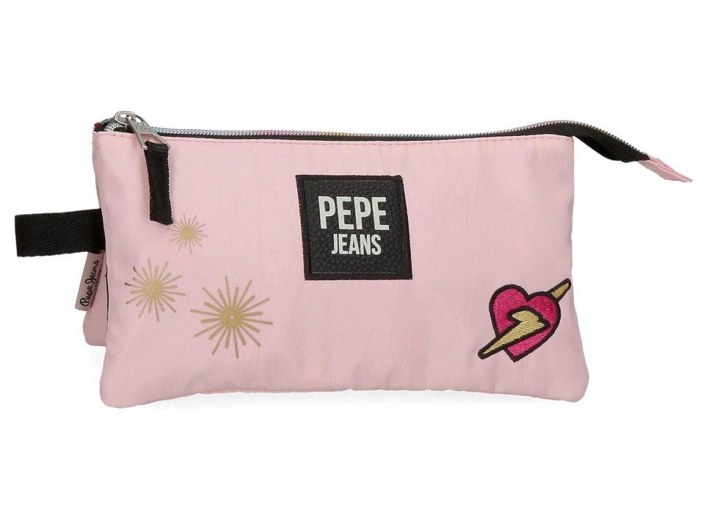 Trojkomorový peračník Pepe Jeans Forever