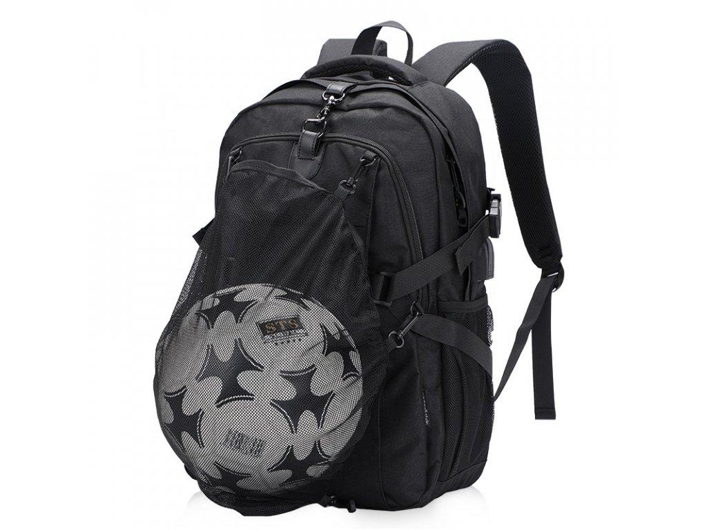 Batoh s odnímateľnou sieťkou na loptu Senkey Style - čierny - 26L