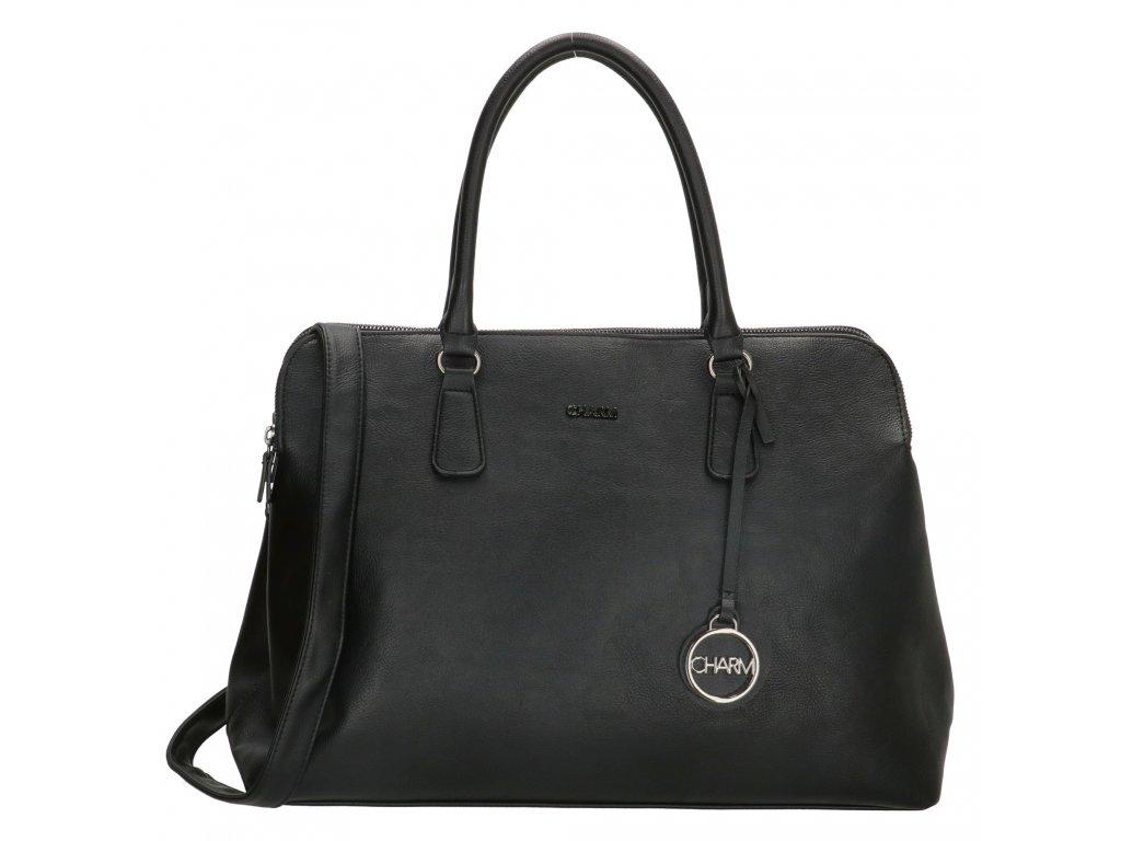 Biznis taška na notebook Charm London Bromley - čierna