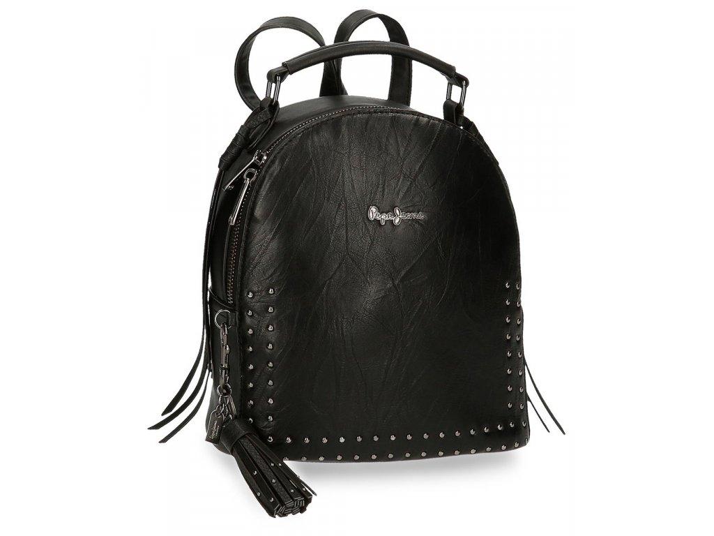 Dámsky dizajnový batoh Pepe Jeans CHIC - čierny