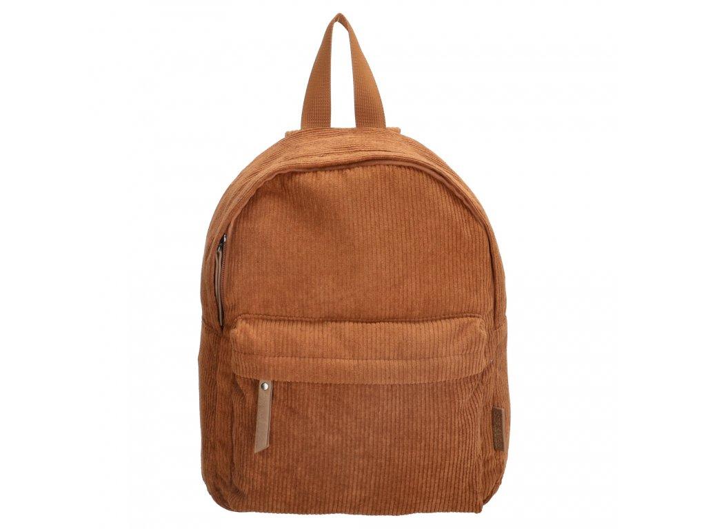 Menčestrový batoh Beagles Navara - koňakový