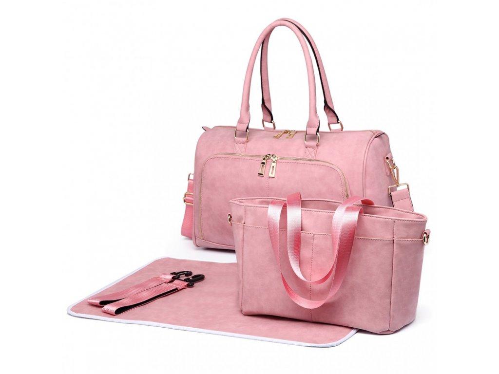 Sada luxusných materských tašiek - ružová