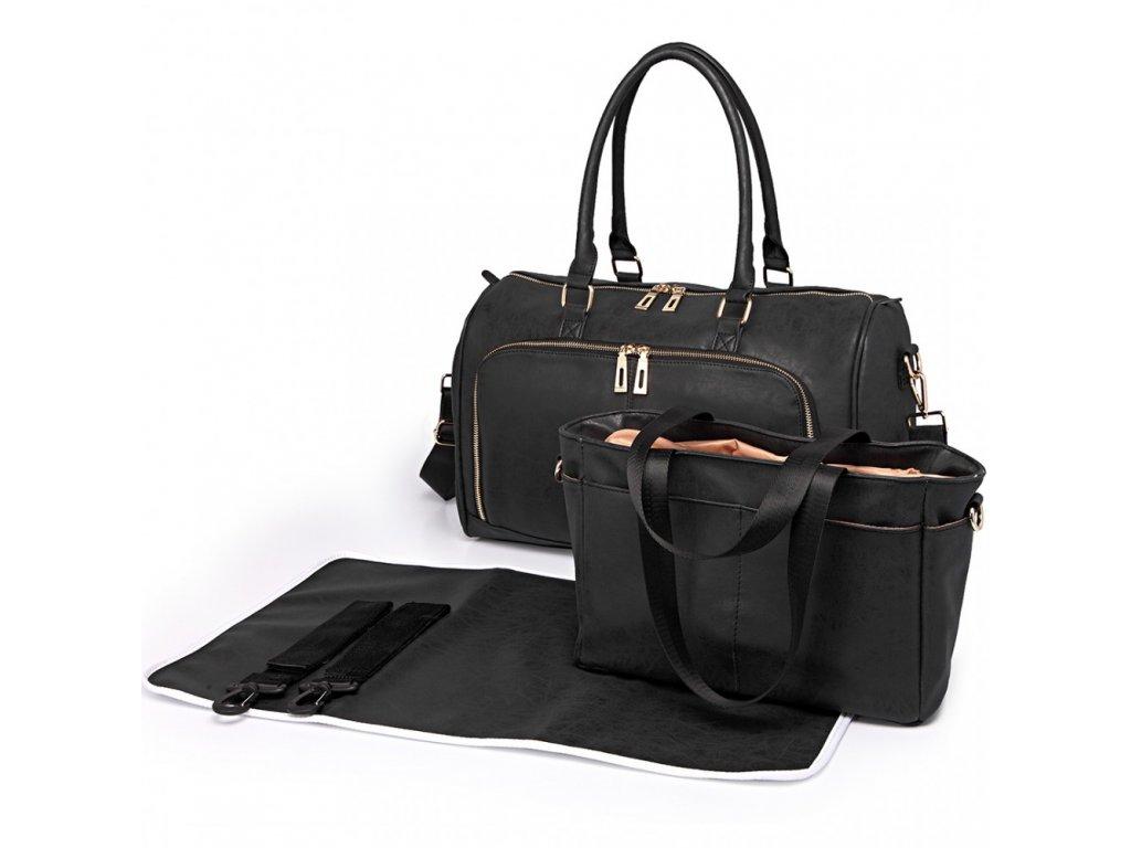 Sada luxusných materských tašiek - čierna