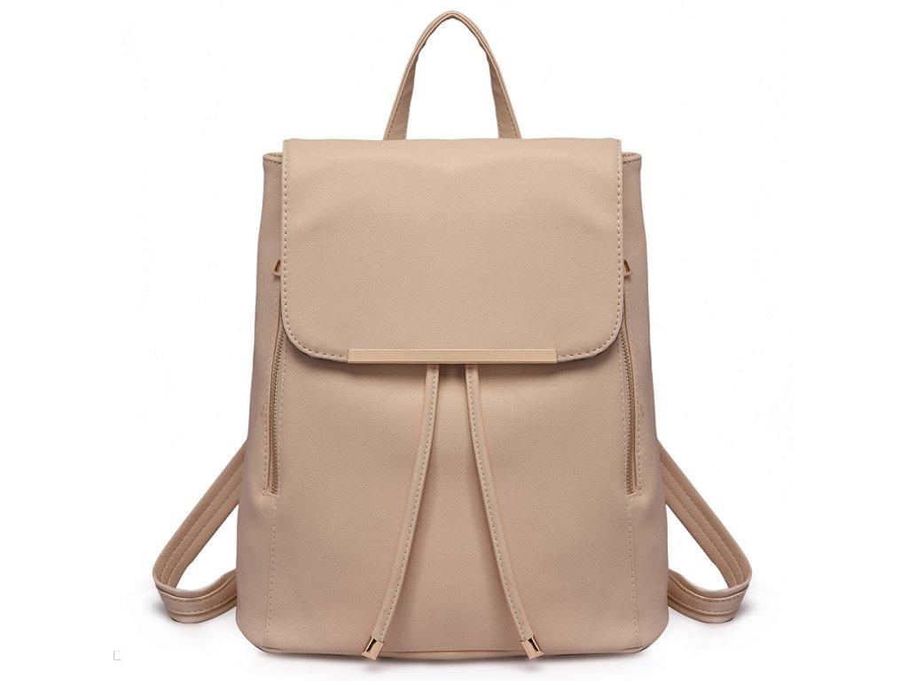 Elegantný dámsky ruksak - Béžový