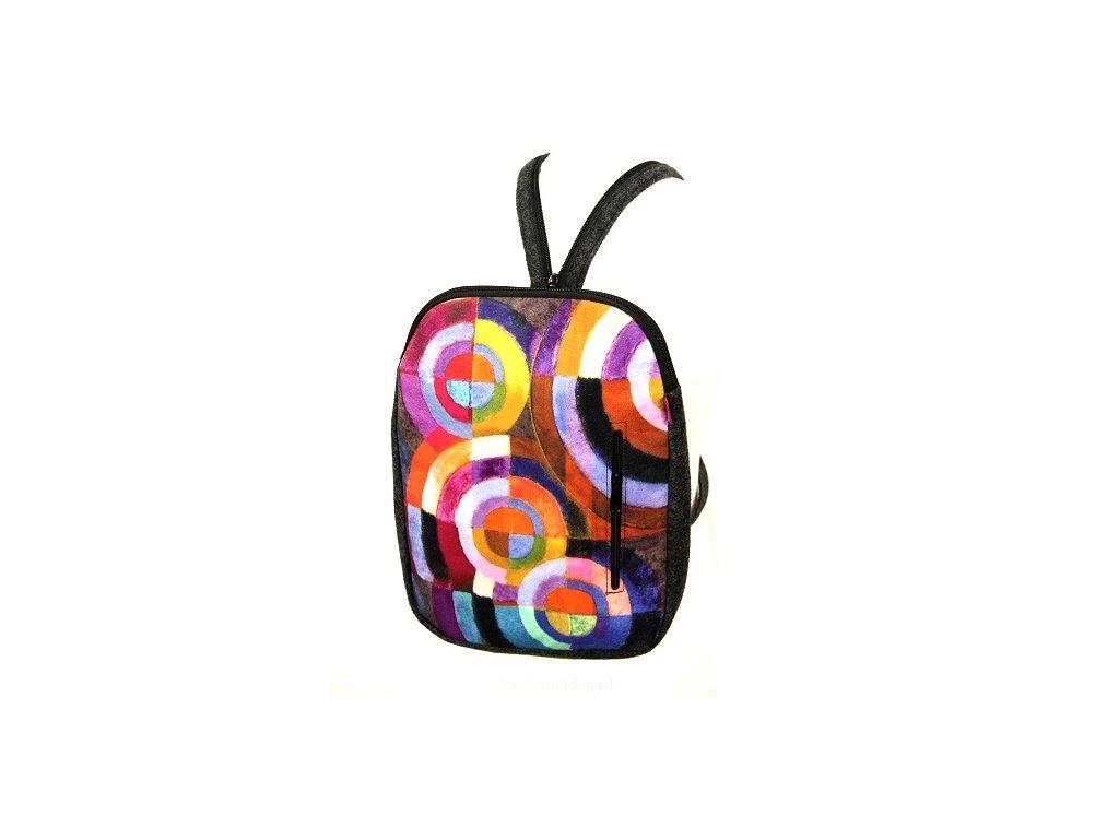 Dizajnový batoh - Kruhy