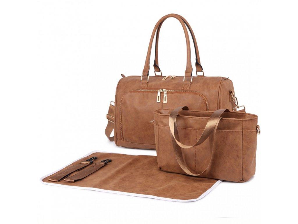 Sada luxusných materských tašiek - Hnedá