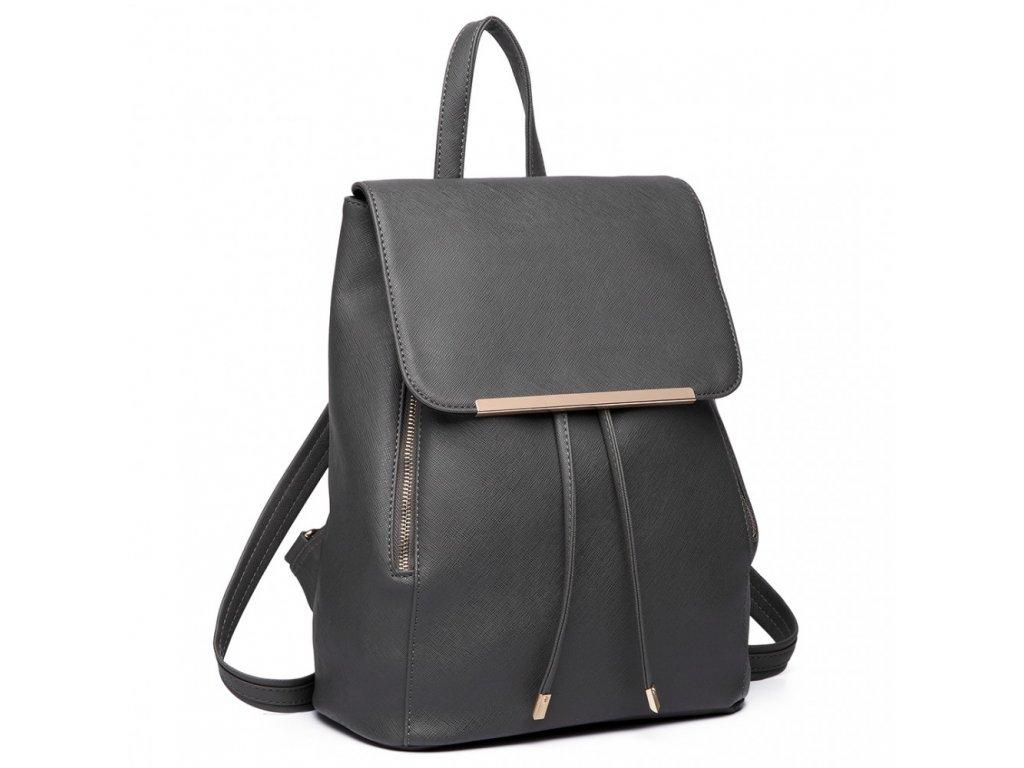 Elegantný dámsky ruksak - Tmavo Sivý