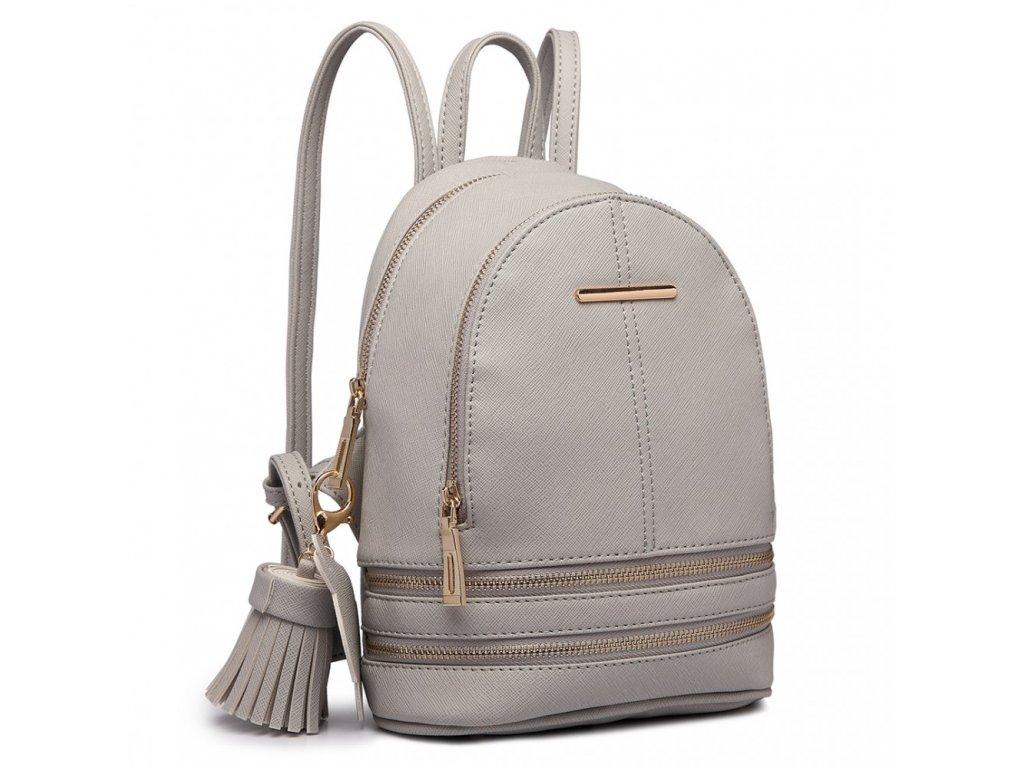 Roztomilý dizajnový batôžtek - sivý