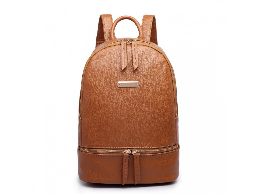 Štýlový hnedý batoh Miss Lulu