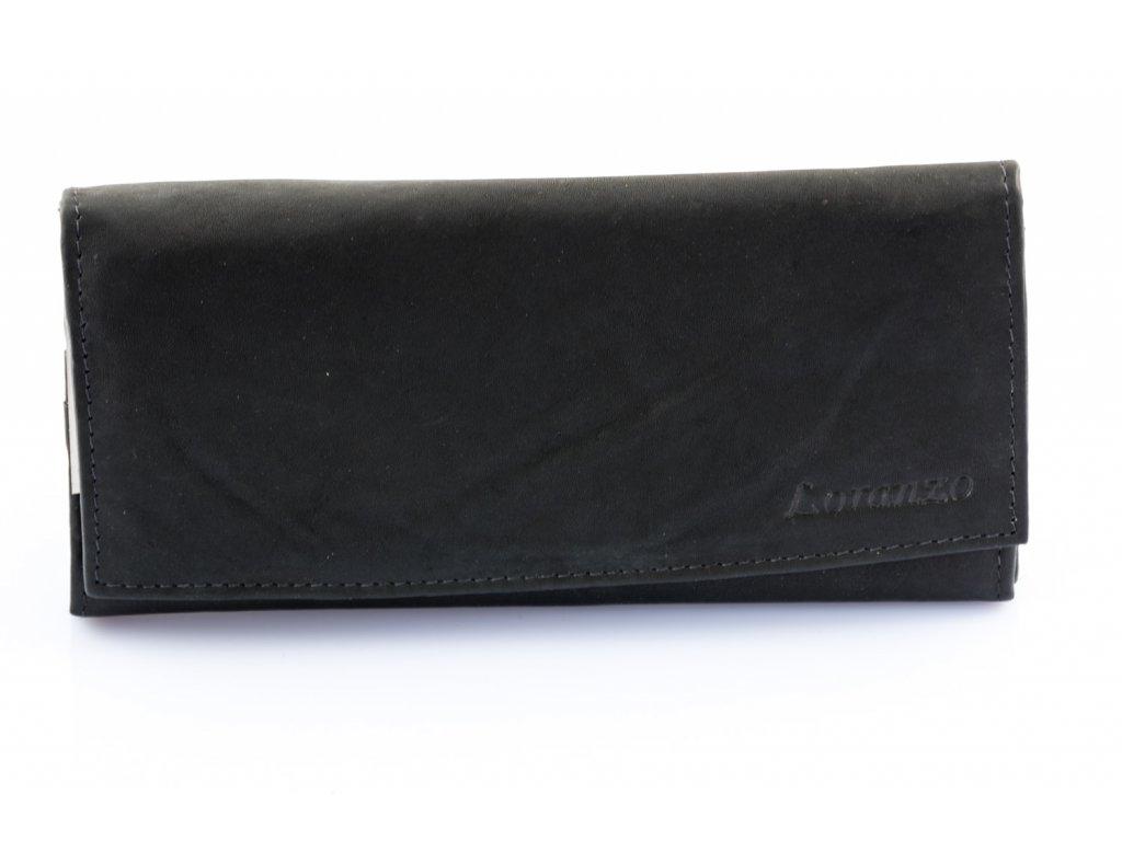 Dámska kožená peňaženka - čierna