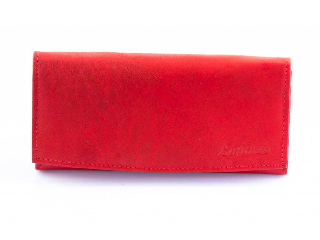 Dámska kožená peňaženka - červená
