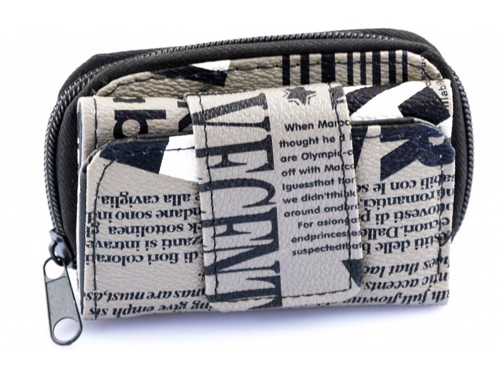 Mini peňaženka - čiernobiela - anglická vlajka