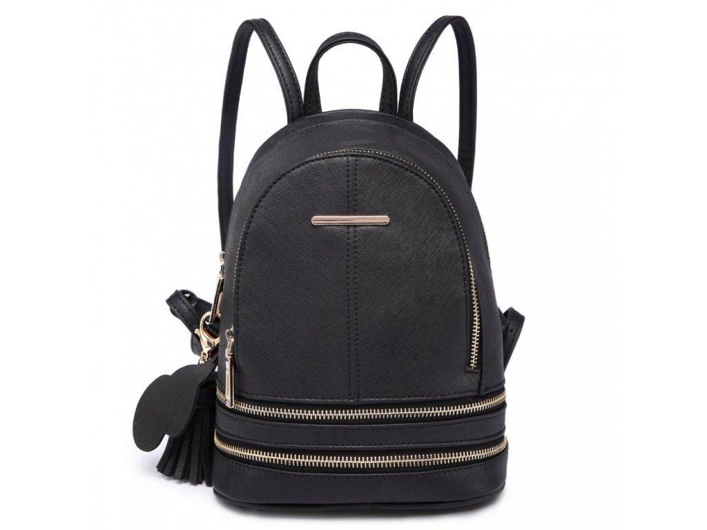 Roztomilý dizajnový batôžtek - čierny