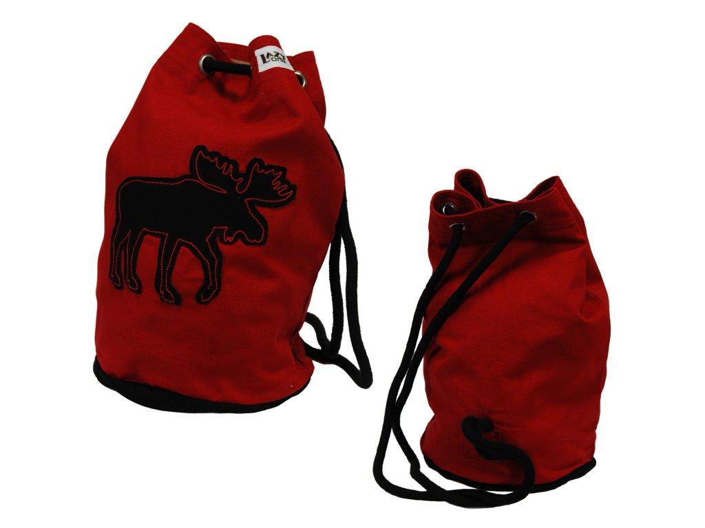Detský batoh Lazy One -  Moose Red