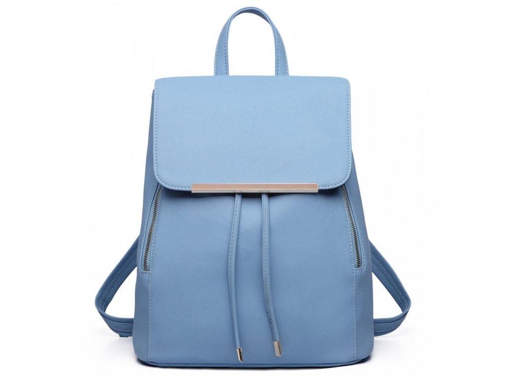 ada87fb3a4 Elegantný dámsky ruksak - svetlo modrý - Batoháreň.sk