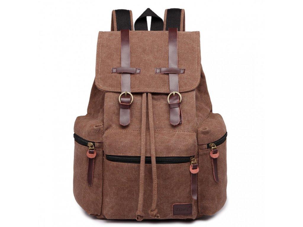Veľký outdoorový multifunkčný pánsky batoh KONO - kávový - Batoháreň.sk b2f6d83519
