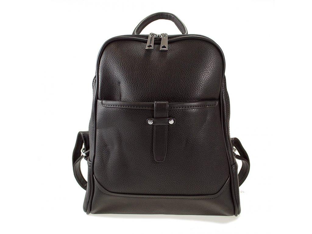 e696fe691c Elegantný dámsky čierny batoh s prackou - Batoháreň.sk