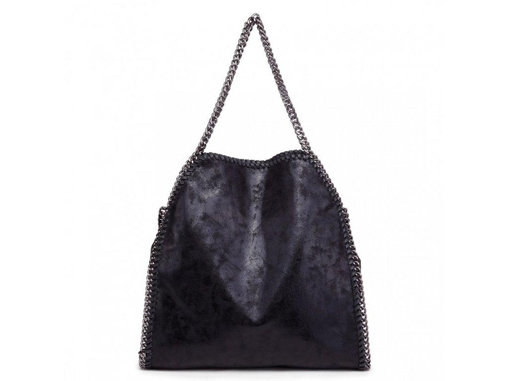 Veľká dámska kabelka s retiazkami - čierna - Batoháreň.sk 66db400d6cc