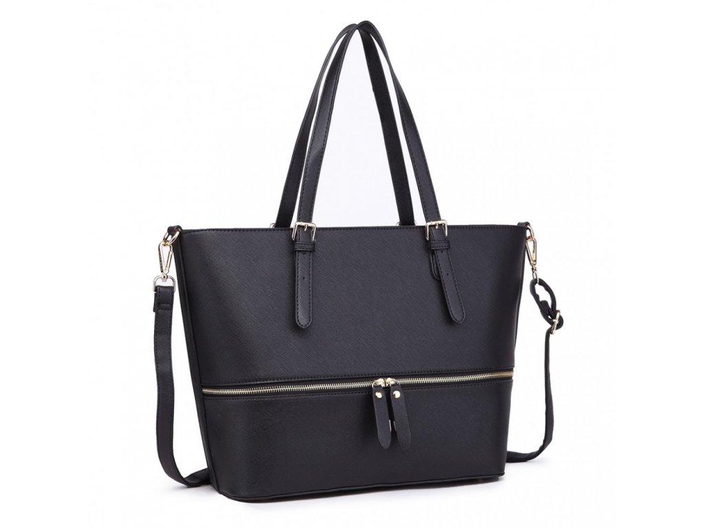 268c36a995 Štýlová dámska elegantná kabelka so zipsom - čierna - Batoháreň.sk