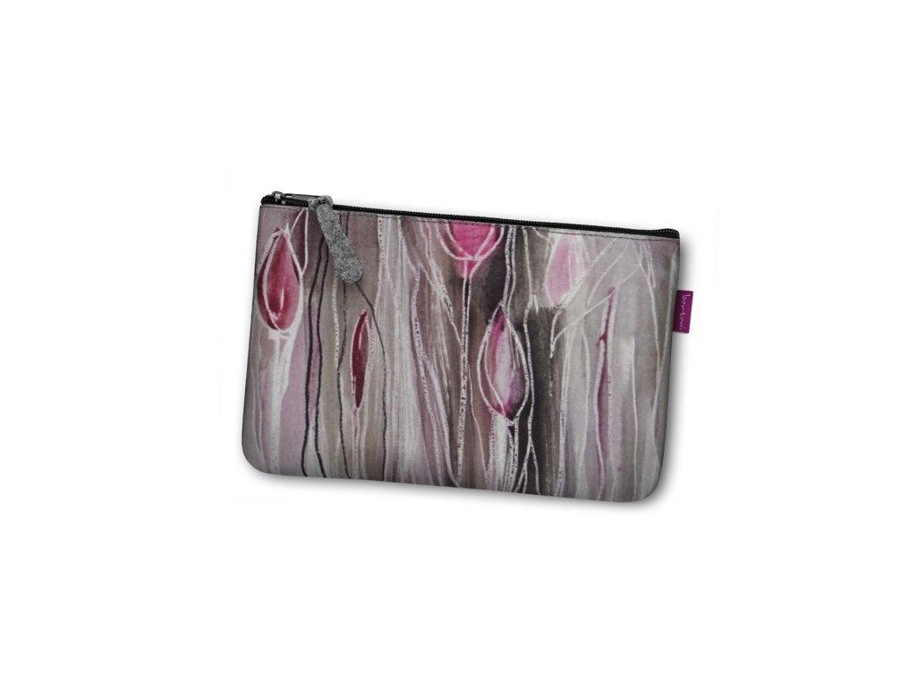 Kozmetická eko taška Tulipány
