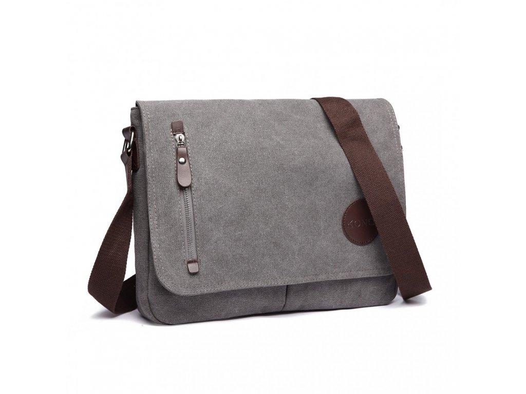 Pánska crossbody taška - sivá