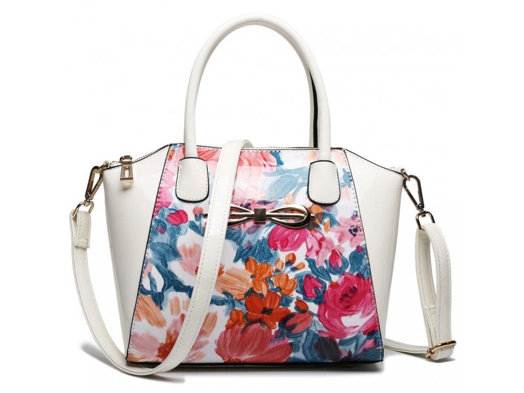 Kvetinová crossbody elegantná kabelka
