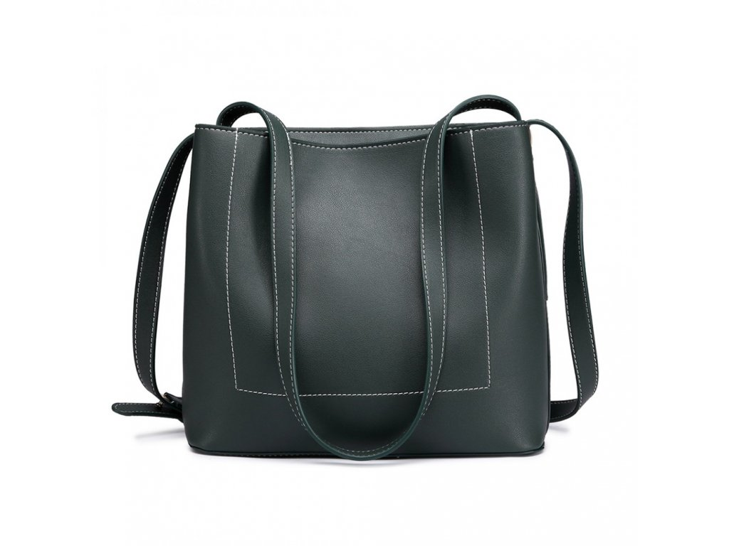 Praktická kabelka na rameno - tmavo zelená