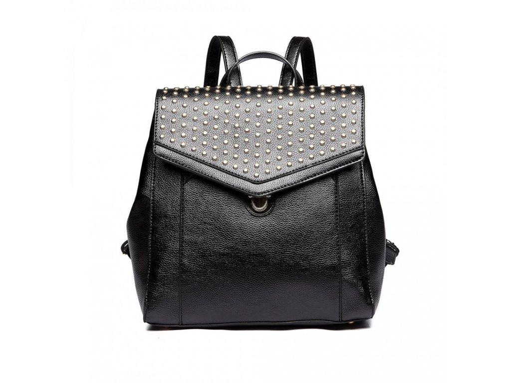 Dizajnový luxusný batoh - čierny