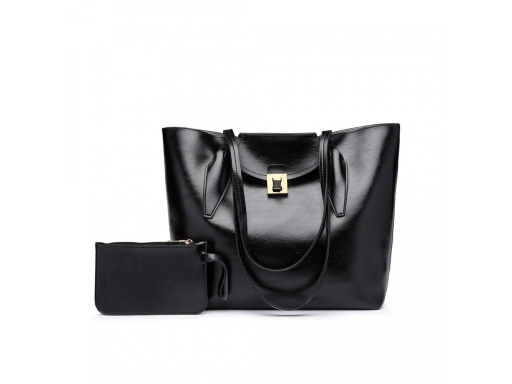 Elegantná dámska kabelka s peňaženkou - čierna - Batoháreň.sk fee2a4b78e4