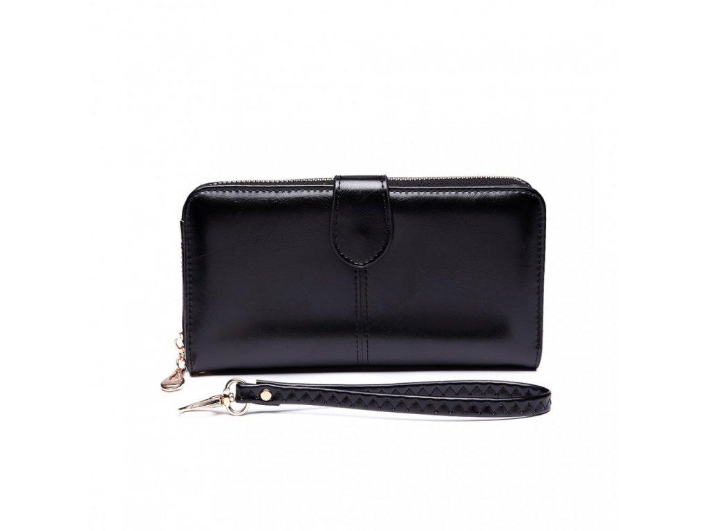 Dámska elegantná peňaženka - čierna Black