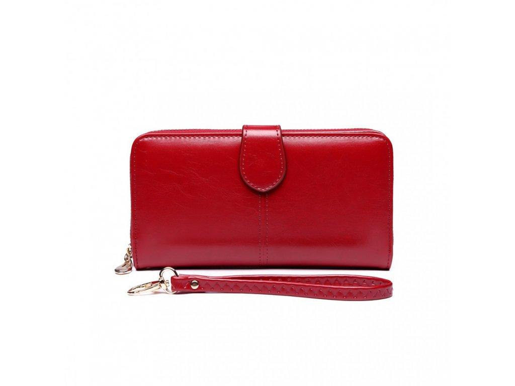 Dámska elegantná peňaženka - červená Burgundy