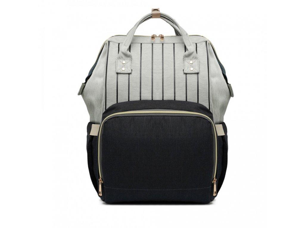 Cestovný batoh - čierno-sivý Stripe
