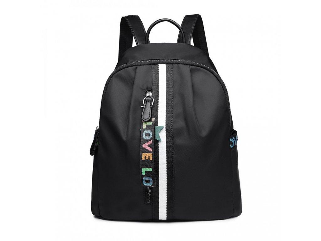Dizajnový vodotesný batoh - Love čierny