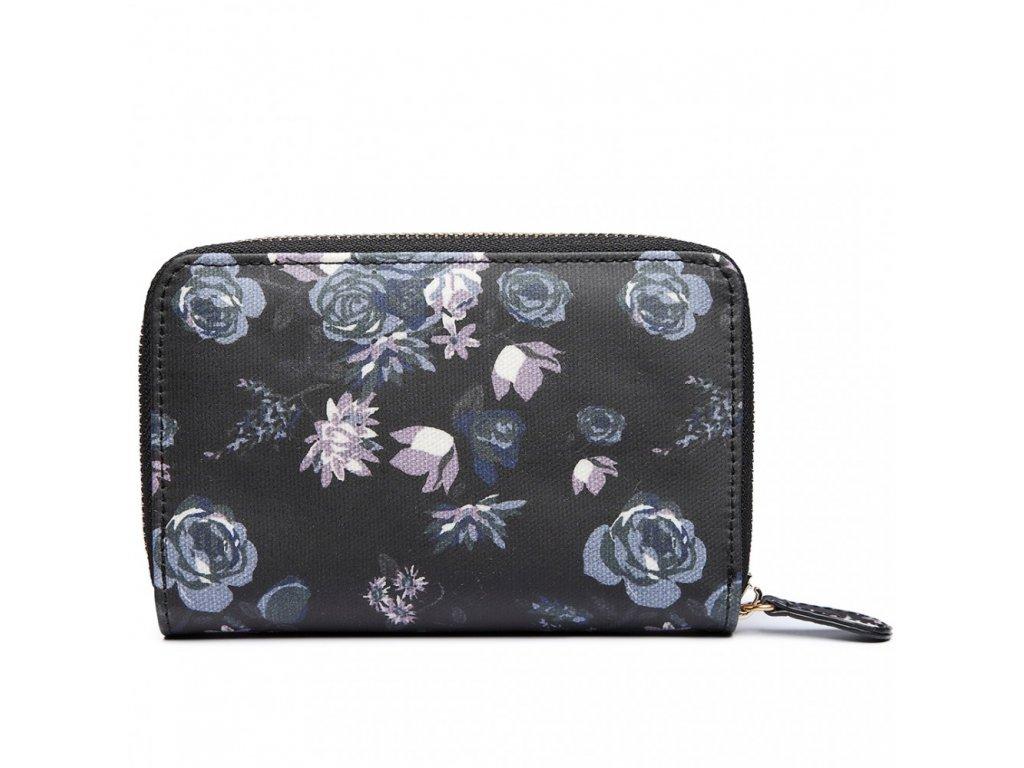 Dámska peňaženka -čierna s ružami - malá - Batoháreň.sk 211003b31ed