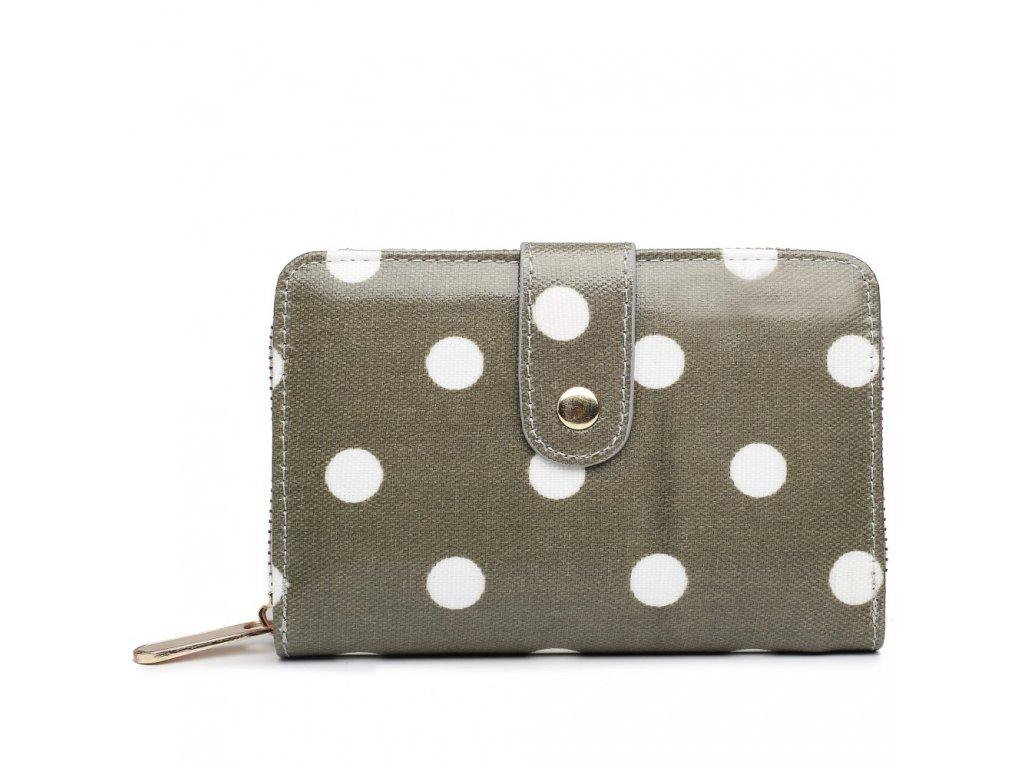 Dámska peňaženka - sivá bodkovaná - malá