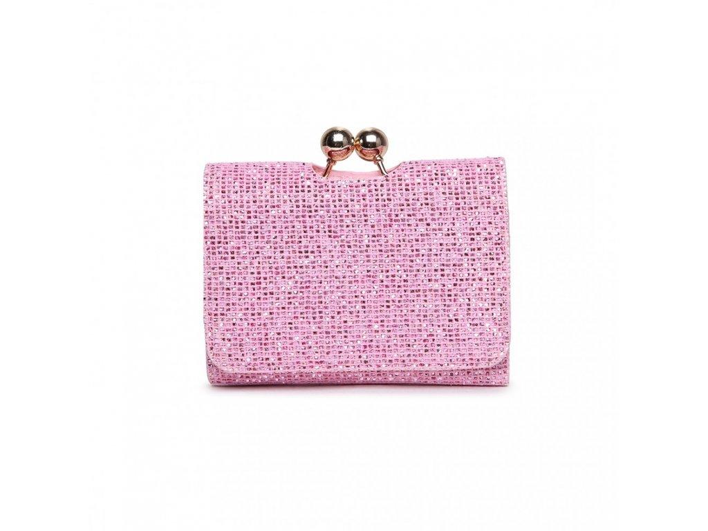 Rozkošná trblietavá peňaženka - ružová
