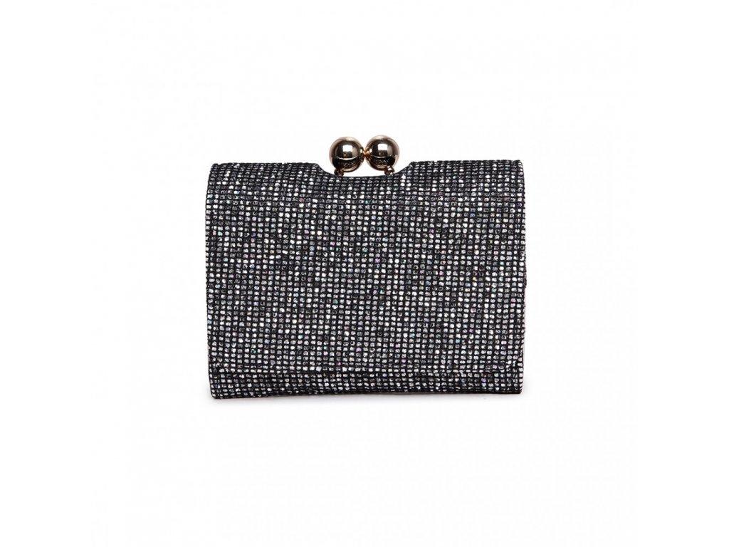 Rozkošná trblietavá peňaženka - čierna