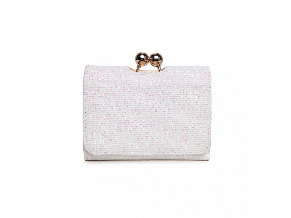 Rozkošná trblietavá peňaženka - biela