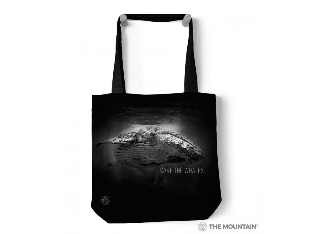 Taška na rameno Zachráňte druh - Veľryby