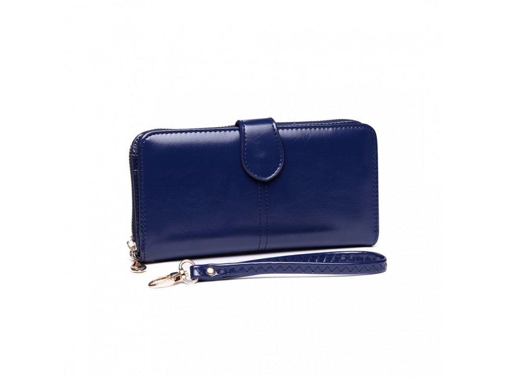 Dámska elegantná peňaženka - modrá Navy
