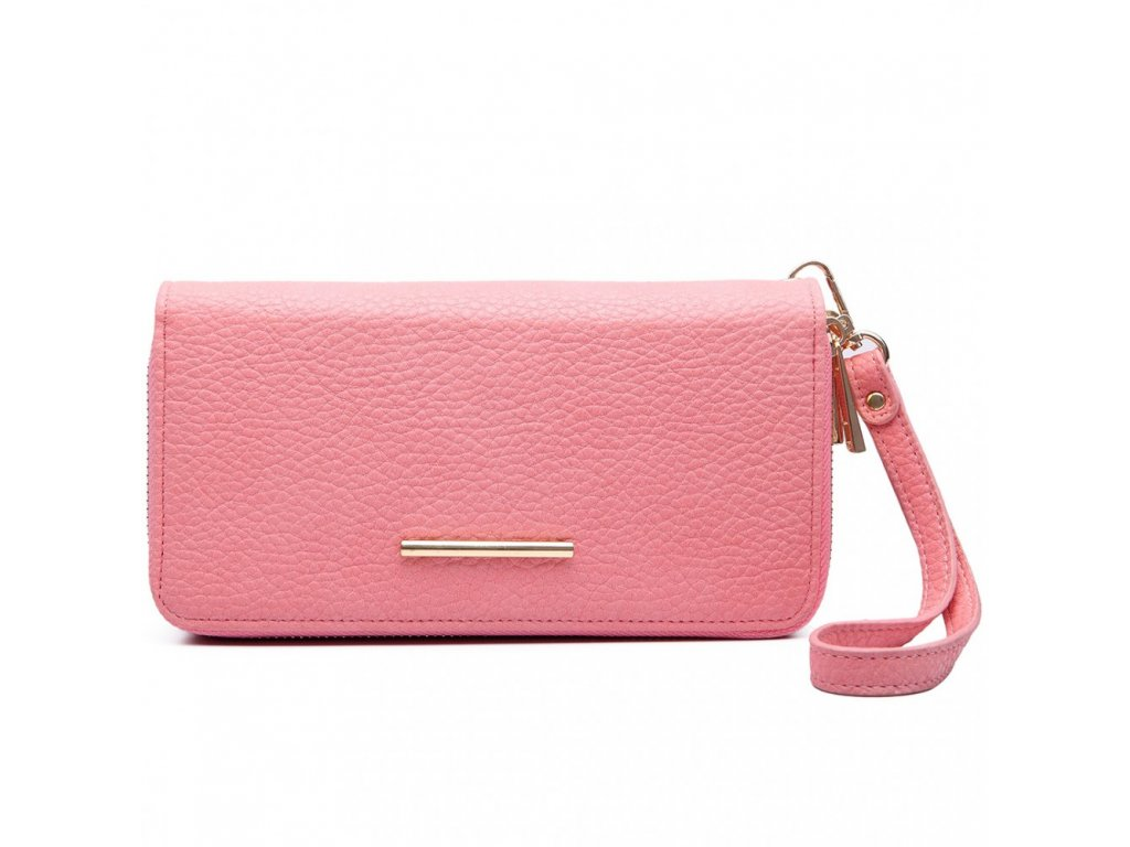 Dámska elegantná peňaženka - ružová Pink