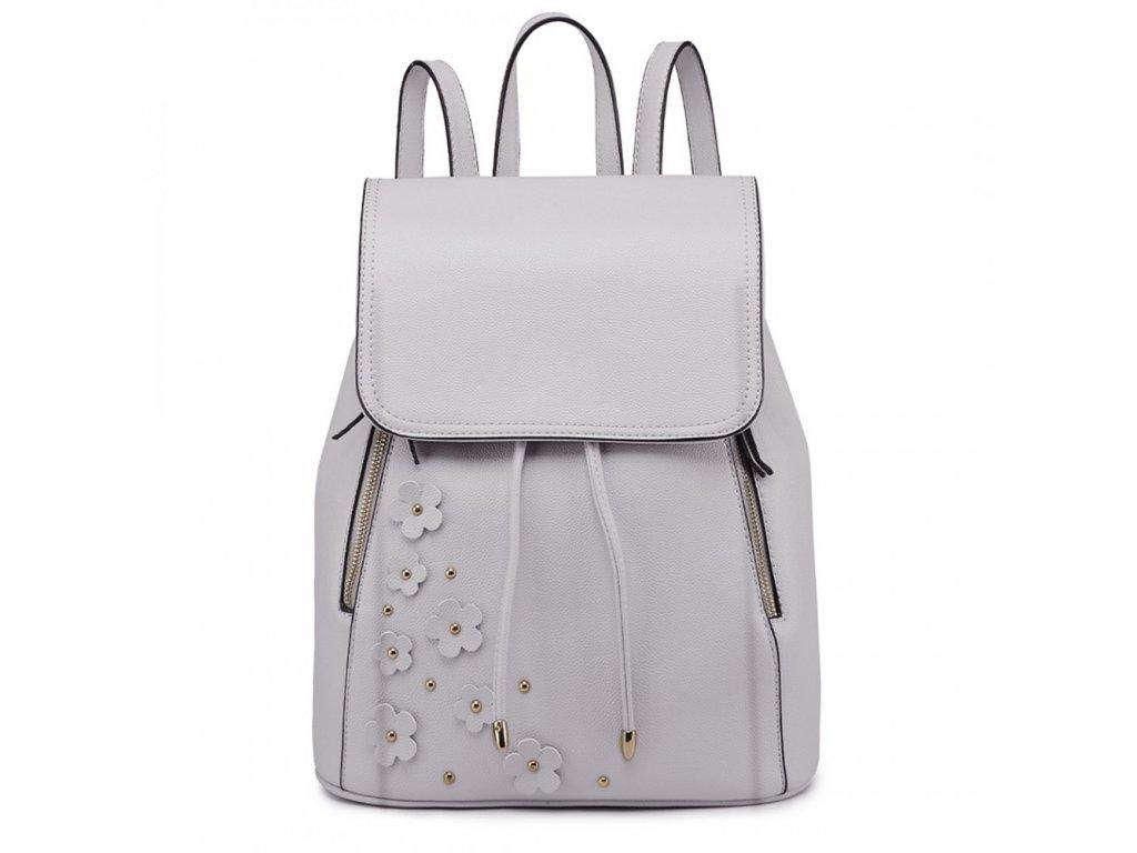 Elegantný batoh - Romantic - svetlo sivý