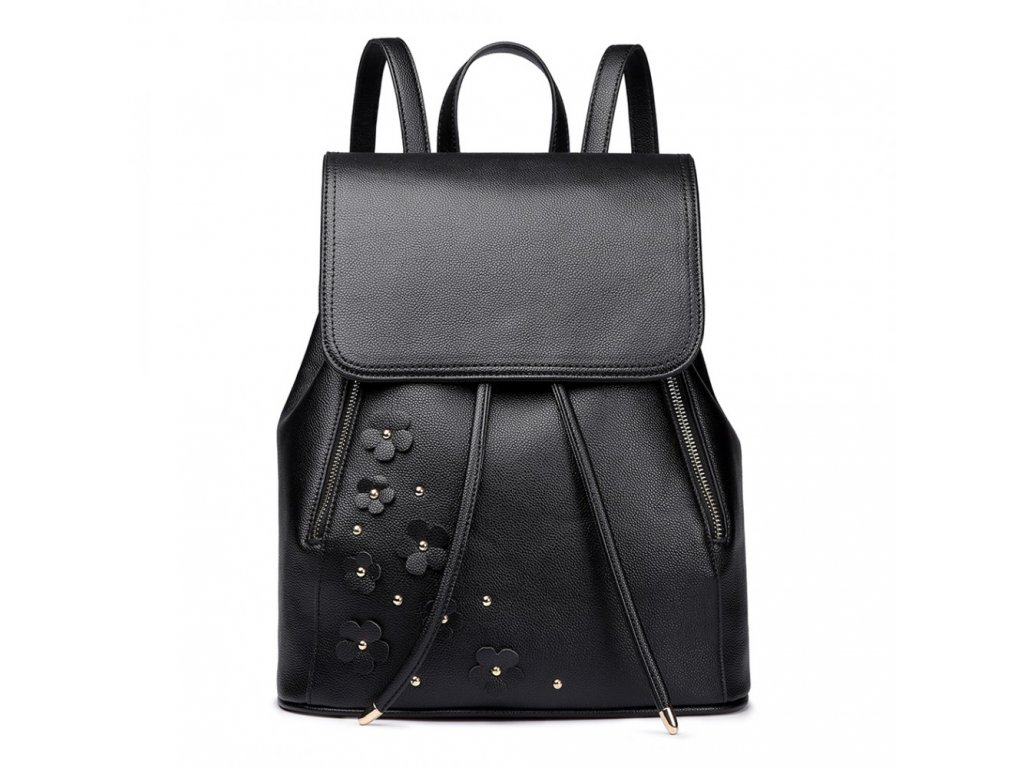Elegantný batoh - Romantic - čierny