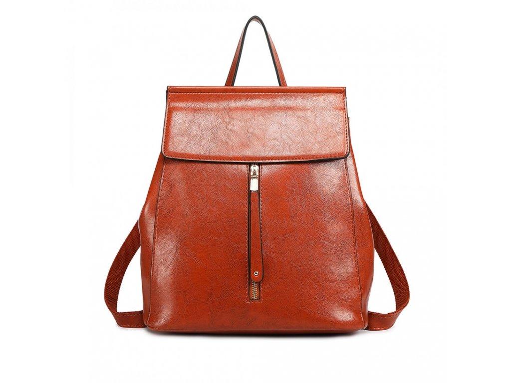 Dámsky elegantný batoh v štýle vintage - terakota