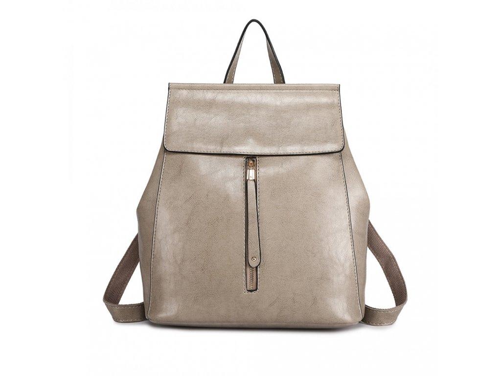 Dámsky elegantný batoh v štýle vintage - sivý