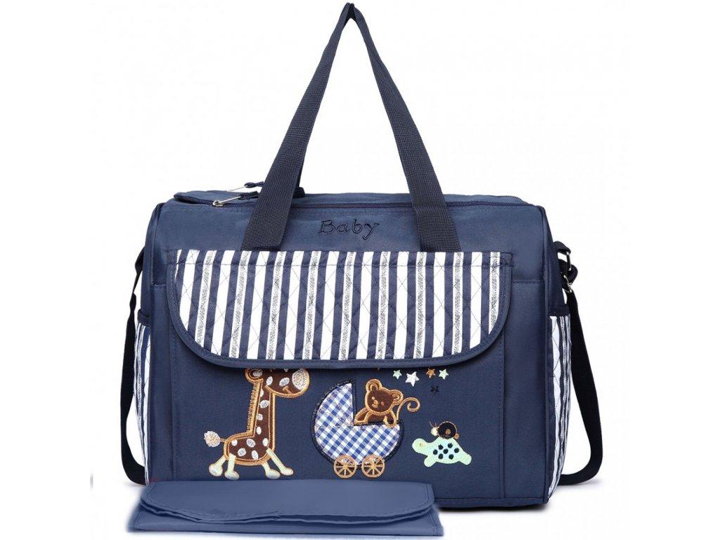Prebalovacia taška Baby - modrá s obrázkom