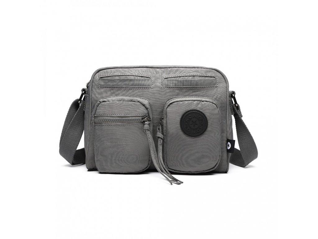 Multi taška na rameno väčšia - sivá