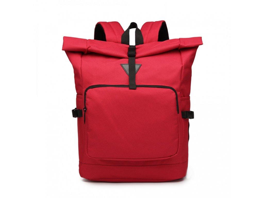 Priestranný cestovný batoh Oxford - červený
