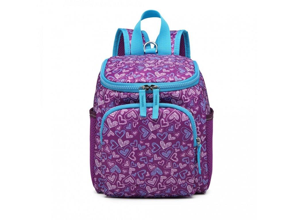 Rozkošný detský batôžtek pre dievčatká - fialový