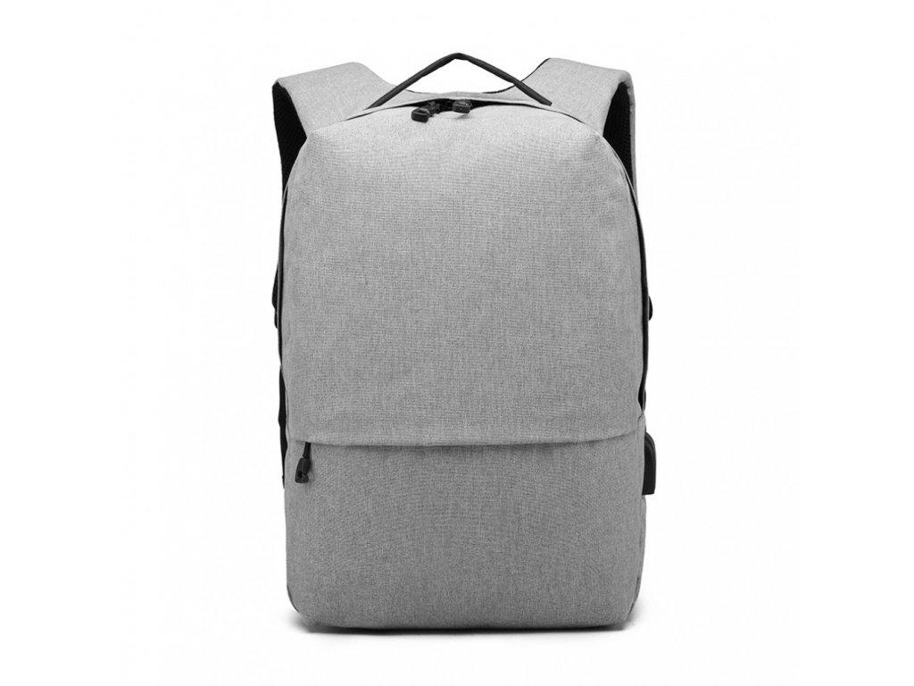 Chytrý batoh s USB portem - Knap - šedý